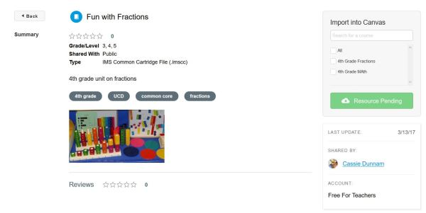 fraction unit Canvas